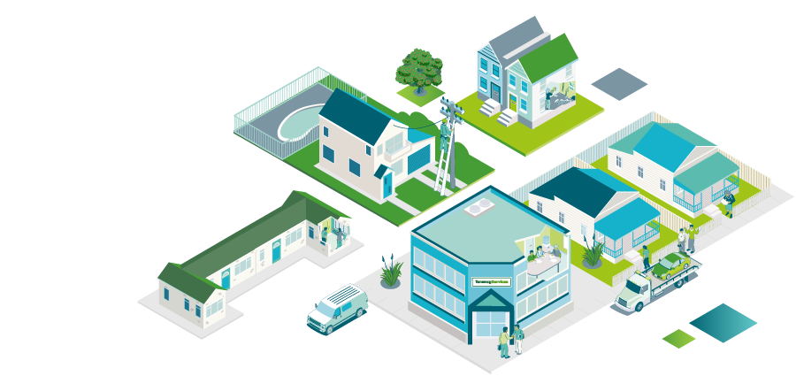 Landing page image of houses in a block - Disputes